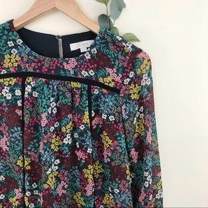 Ann Taylor LOFT Floral Lace Paneling Tunic Dress